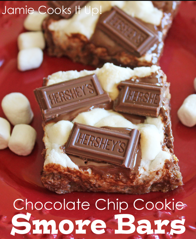 Chocolate Chip Cookie Smore Bars from Jamie Cooks It Up!