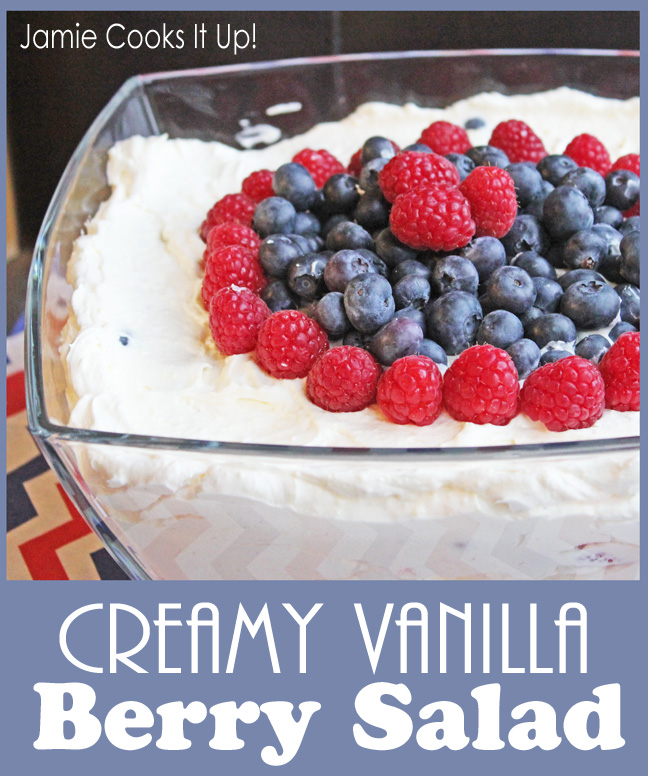 Creamy Vanilla Berry Salad from Jamie Cooks It Up!