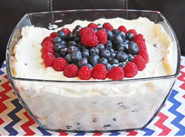 Creamy Whipped Berry Salad from Jamie Cooks It Up!