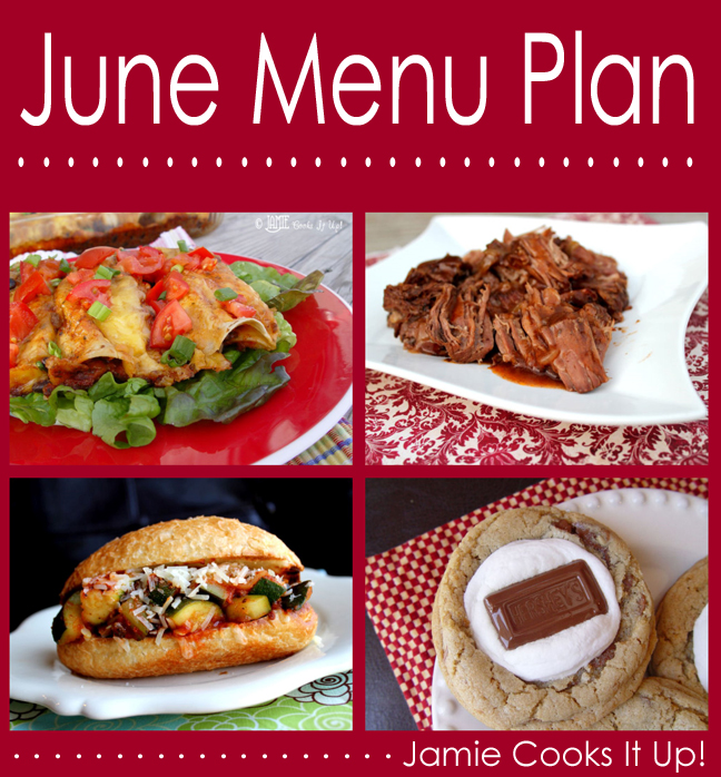 June Menu Plan 2014
