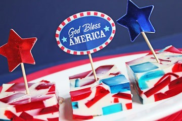 Patriotic Broken Glass Jello