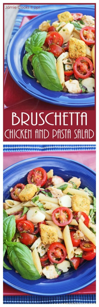 Bruschetta Chicken and Pasta Salad  I  Jamie Cooks It Up!