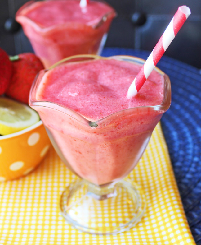 Frozen Strawberry Lemonade from Jamie Cooks It Up!!!
