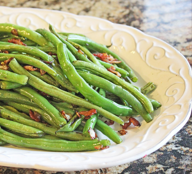 Green Beans with Crispy Bacon