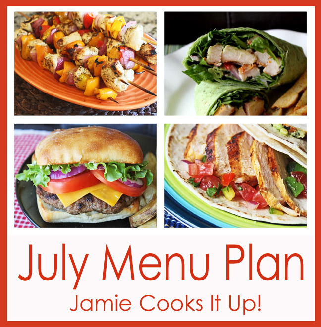 July Menu Plan 2014