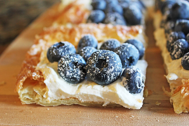Bluberries and Cream Puff Pastry from Jamie Cooks It Up!