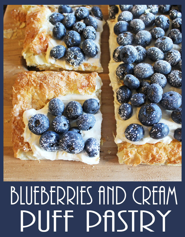 Blueberries and Cream Puff Pastry