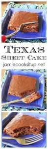 Texas Sheet Cake from Jamie Cooks It Up