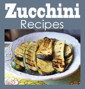 Zucchini Recipes Sidebar