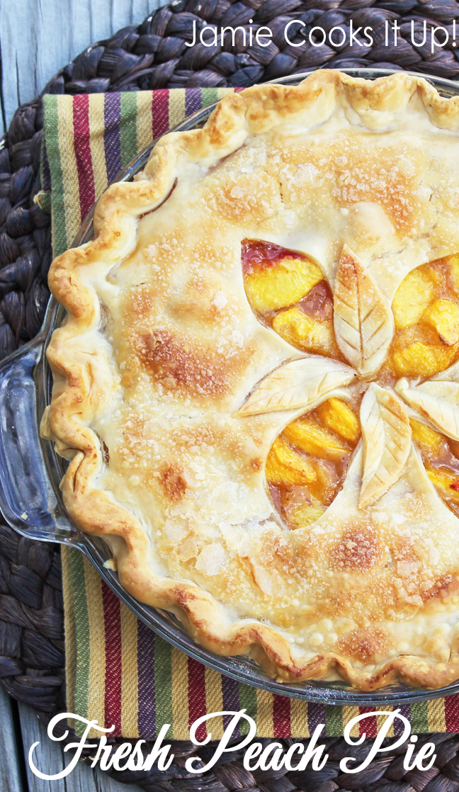 Fresh Peach Pie from Jamie Cooks It Up