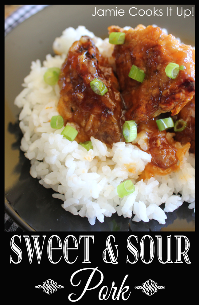 Sweet and Sour Pork from Jamie Cooks It Up!
