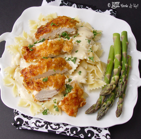 Crispy Chicken with Italian Sauce and Bowtie Noodles (NEW and IMPROVED)