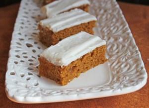 Pumpkin Bars with Cream Cheese Frosting Jamie Cooks It Up!