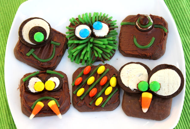 Spooky Halloween Monster Cookies from Jamie Cooks It Up