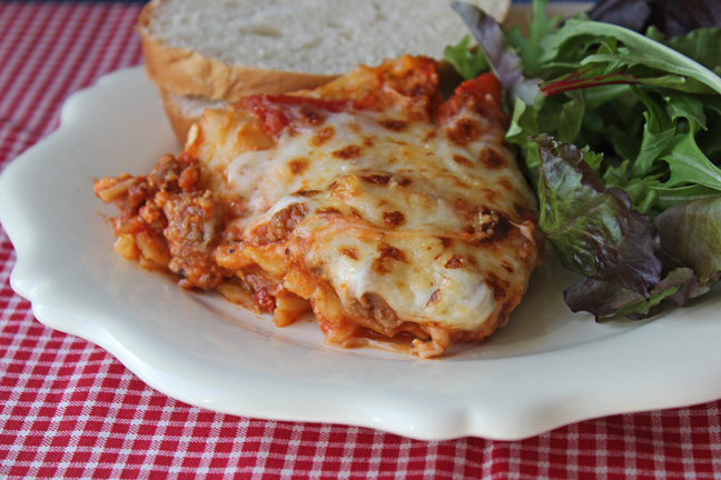 30 Minute Skillet Lasagna from Jamie Cooks It Up!