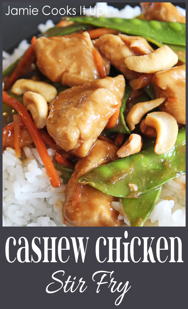 Cashew Chicken Stir Fry from Jamie Cooks It Up!!