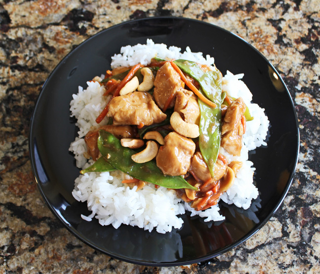 Cashew Chicken Stir Fry from Jamie Cooks It Up!