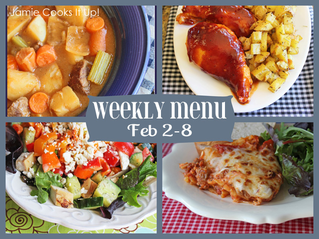 Weekly Menu Plan Feb 2-8