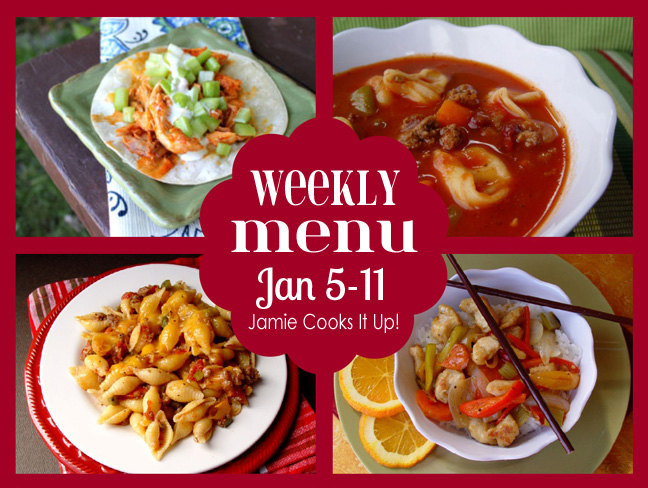 January Menu Plan 5-11