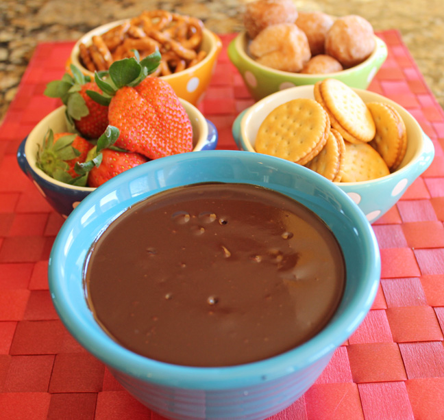 Easy Chocolate Fondue from Jamie Cooks It Up!!