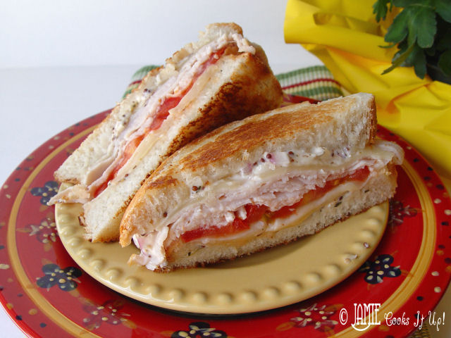 Grilled Turkey and Swiss Sandwich