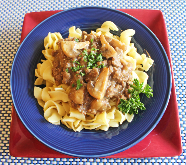 Lightened Up Beef Stroganoff from Jamie Cooks It Up!!