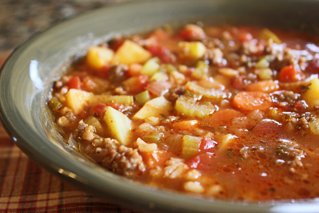 Hearty Sausage and Barley Soup
