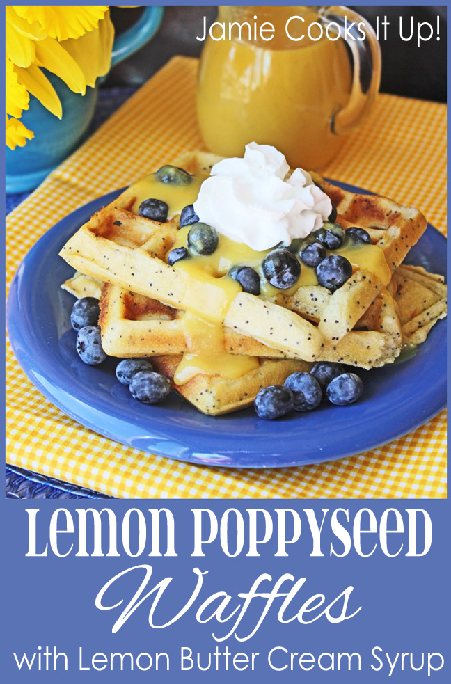 Lemon Poppy Seed Waffles from Jamie Cooks It Up!