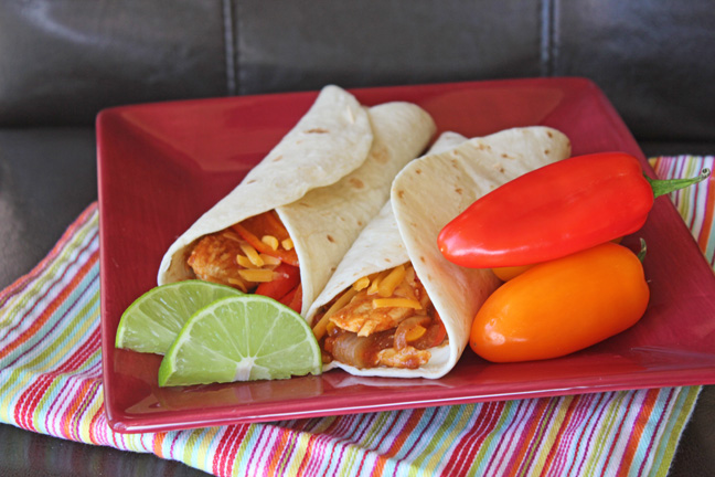Skillet Chicken Fajitas from Jamie Cooks It Up