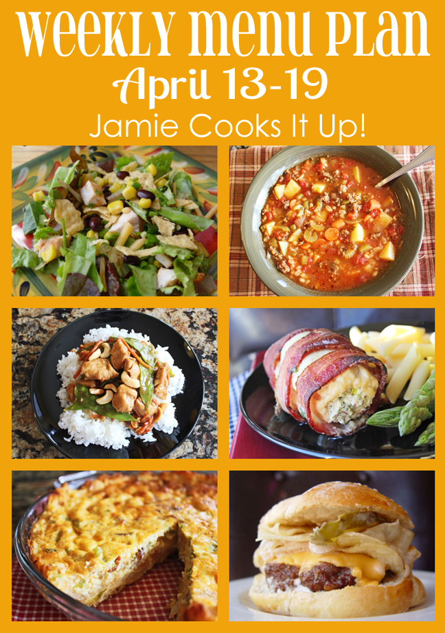 April Menu Plan Week #3 Jamie Cooks It Up!