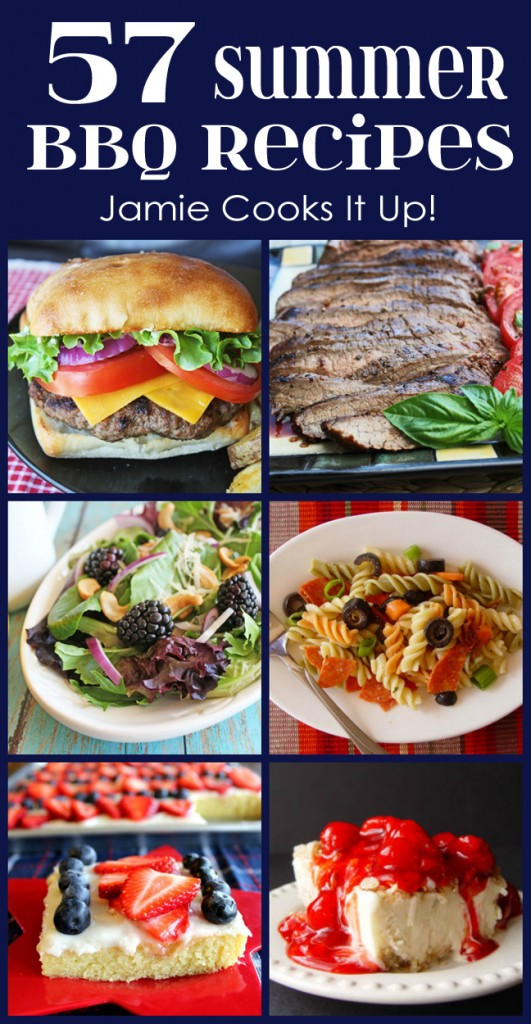 57 Summer BBQ Recipes from Jamie Cooks It Up!
