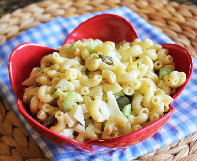 Classic Macaroni Salad from Jamie Cooks It Up