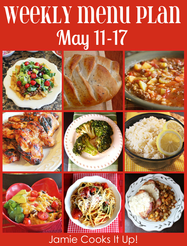 Weekly Menu Plan: May 10-17