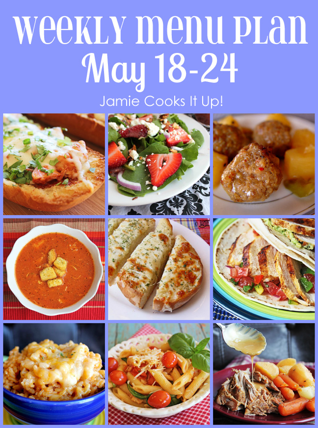 Weekly Menu Plan: May 18-24