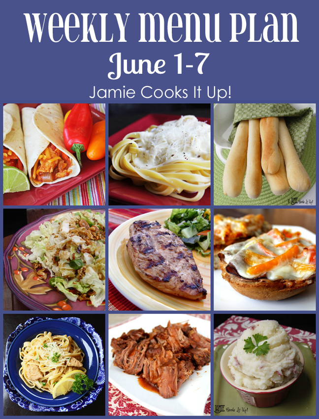 Weekly Menu Plan June Week 1