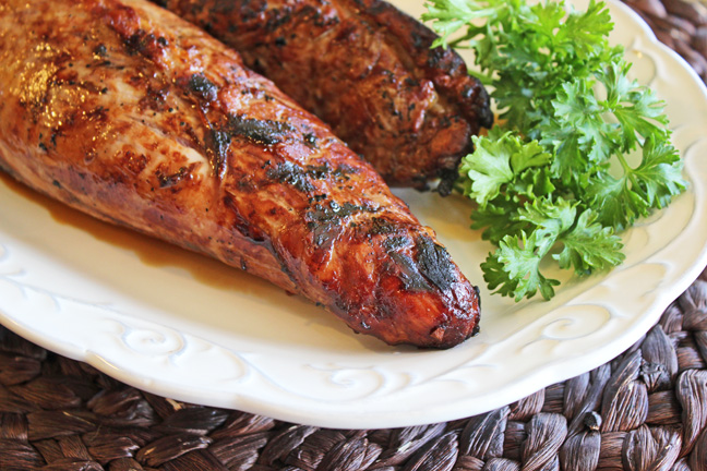 Grilled Pork Tenderloin from Jamie Cooks It Up!