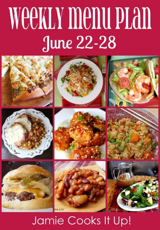 Weekly Menu Plan June 22