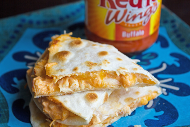 Buffalo Chicken Quesadillas from Jamie Cooks It Up!