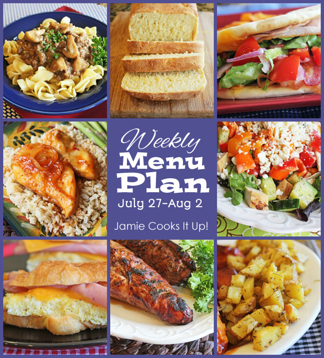 Weekly Menu Plan, July 27-Aug 2