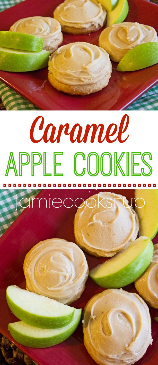 Caramel Apple Cookies from Jamie Cooks It Up!