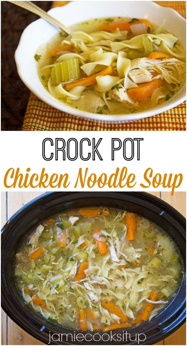 Crock Pot Chicken Noodle Soup Jamie Cooks It Up!