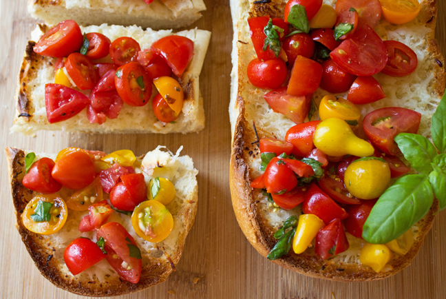 French Bread Bruschetta from Jamie Cooks It Up!