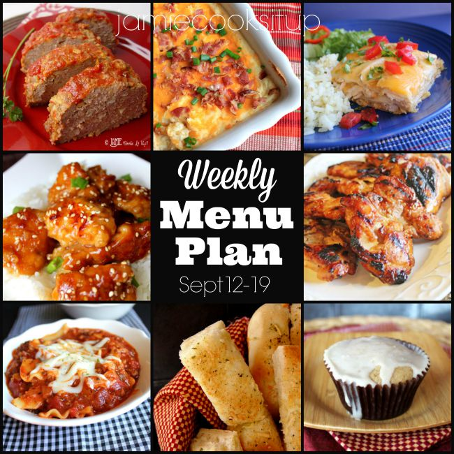 Weekly Menu Plan: Sept 12-19
