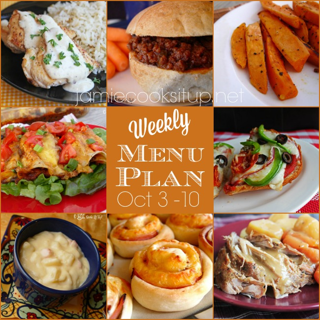 Weekly Meal Plan: Oct. 3-10