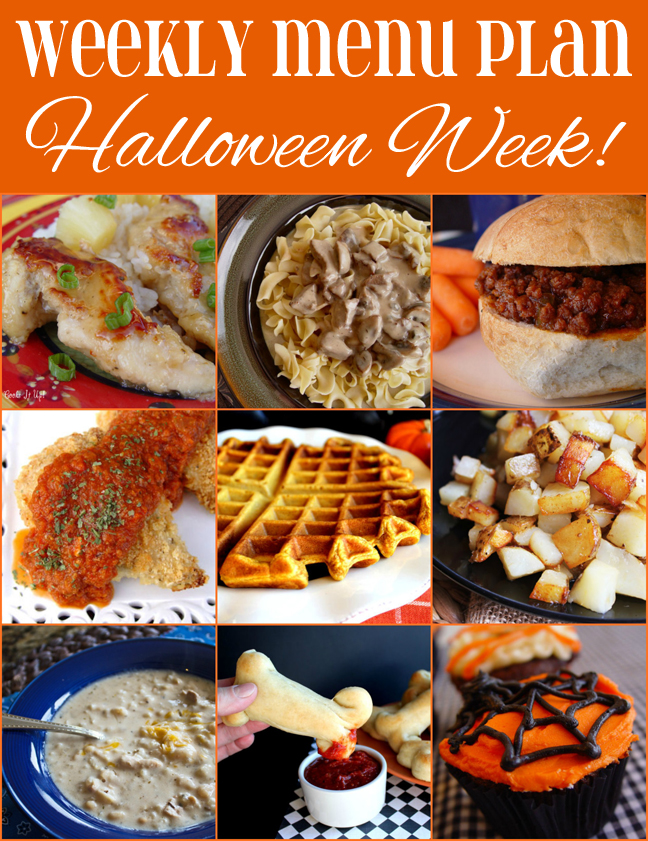 Weekly Menu Plan Halloween Week!