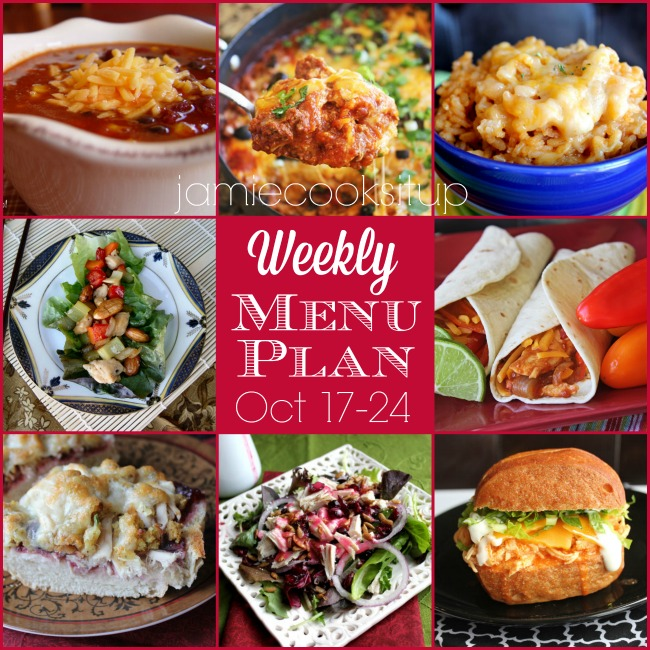 Weekly Menu Plan: October 17-24