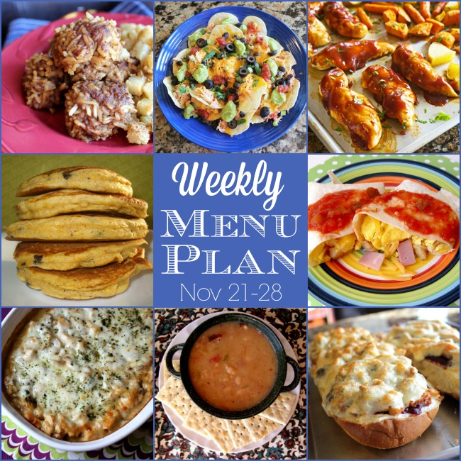 Weekly Menu Plan: Nov 21-28