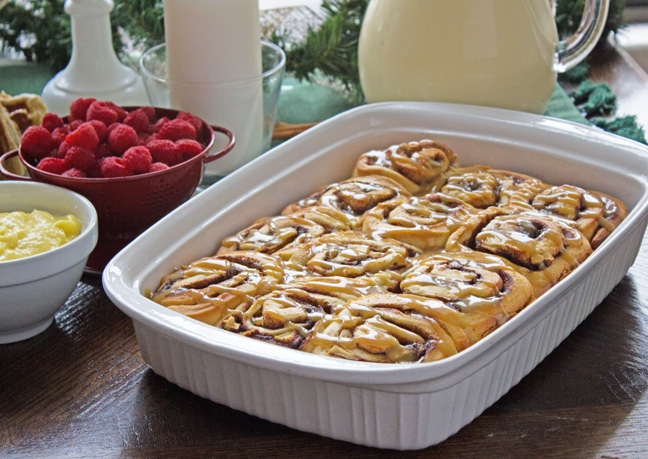 (Jamie) Sweet Rolls with Egg Nog