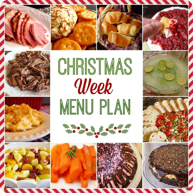 Christmas Week Menu Plan