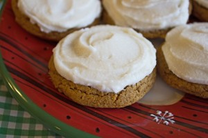Soft Frosted Ginger Spice Cookies from Jamie Cooks It Up!